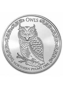 Tokelau 2021 Northern Pygmy Owl - Sperlingskauz Silber 1 oz