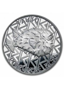Tokelau 2021 Porcupine - Igelfisch Silber 1 oz