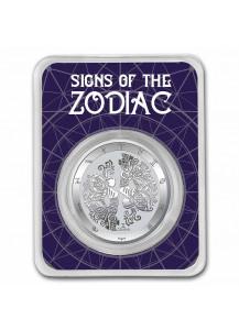 Tokelau 2021 Zodiac - Sternzeichen Zwilling - Gemini Silber 1 oz  BLISTER