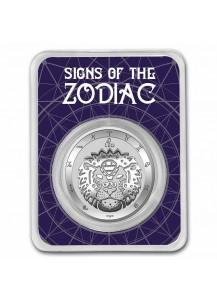 Tokelau 2021 Zodiac - Sternzeichen Leo - Löwe Silber 1 oz  BLISTER