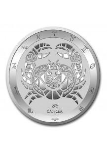 Tokelau 2021 Zodiac - Sternzeichen Cancer - Krebs Silber 1 oz