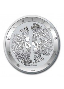 Tokelau 2021 Zodiac - Sternzeichen Zwilling - Gemini Silber 1 oz