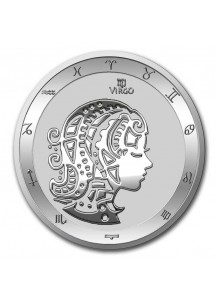 Tokelau 2021 Zodiac - Sternzeichen Virgo - Jungfrau Silber 1 oz