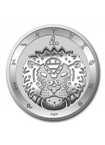 Tokelau 2021 Zodiac - Sternzeichen Leo - Löwe Silber 1 oz