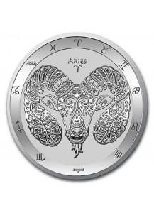 Tokelau 2021 Zodiac - Sternzeichen Widder - Aries Silber 1 oz