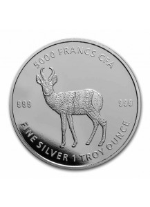 Tschad 2021 Mandala Antilope  Silber 1 oz