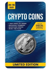Tschad 2020  Crypto Litecoin Silber 1 oz  BLISTER  PP