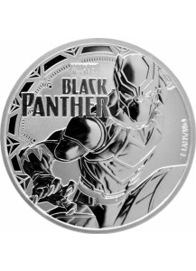 Tuvalu 2018  Marvel Black Panther Silber 1 oz