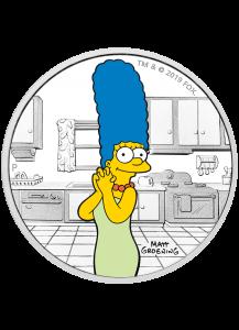 Tuvalu 2019  DIE SIMPSONS Figuren - Marge Simpson Silber 1 oz - polierte Platte
