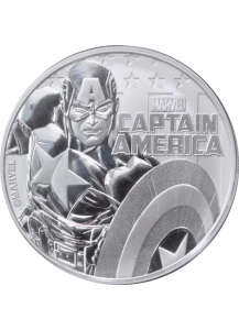 Tuvalu 2019  Marvel  Captain America   Silber 1 oz