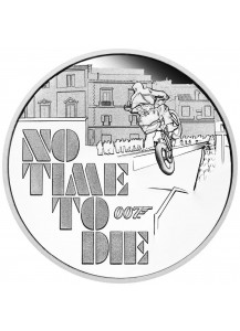Tuvalu 2020  JAMES BOND 007 NO TIME TO DIE Silber 1 oz PP