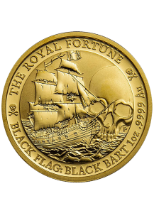 Tuvalu 2020   Black Flag The Royal Fortune Piratenschiff Gold 1 oz