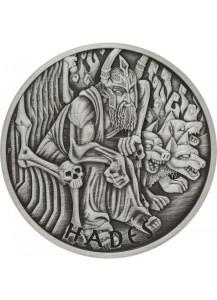 Tuvalu 2021  HADES - Gods of Olymp Silber 1 oz  ANTIK FINISH