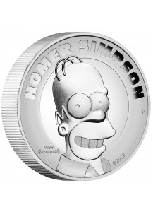 Tuvalu 2021  HOMER SIMPSONS Silber 2 oz  PP
