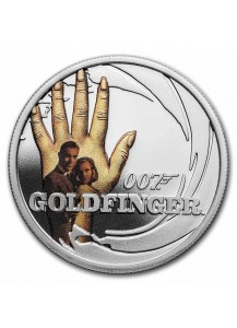 Tuvalu 2021  GOLDFINGER - JAMES BOND MOVIE Silber 1/2 oz