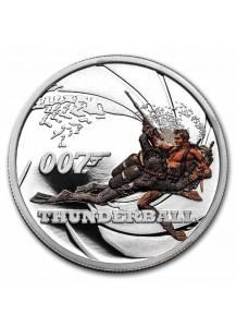Tuvalu 2021 THUNDERBALL  - JAMES BOND MOVIE Silber 1/2 oz