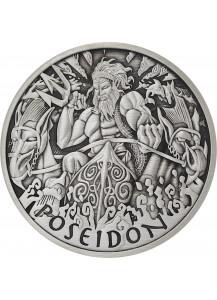 Tuvalu 2021  POSEIDON - Gods of Olymp Silber 1 oz  ANTIK FINISH