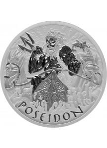 Tuvalu 2021  POSEIDON - Gods of Olymp Silber 1 oz