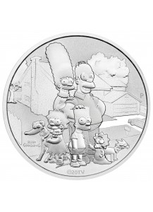 Tuvalu 2021  Familiy - Familie Simpsons Silber 1 oz