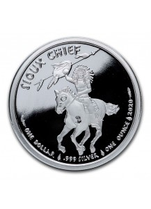 USA 2020  Sioux Indian War Chief  Silber 1 oz