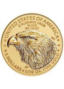 USA 2021  American Eagle  Gold 1/10 oz  TYPE 2