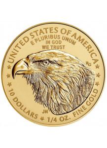 USA  2021  American Eagle   Gold 1/4 oz TYPE 2