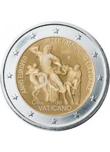 Vatikan 2018  2 Euro Europäisches Jahr des Kulturerbes st im Blister